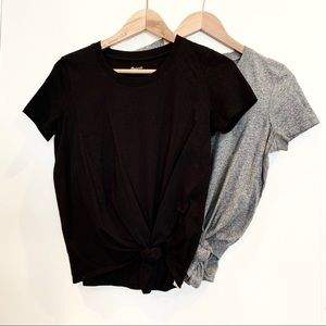 Two Madewell Knot Front Tees